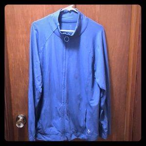 Old Navy slate blue zip up cotton spandex jacket